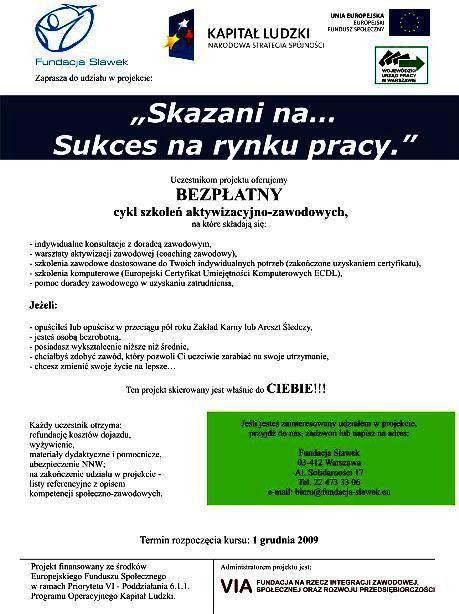 2009.11.30 Fundacja Sławek- kurs