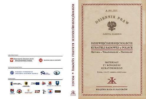 Dziewięćdziesięciolecie kurateli sądowej wPolsce (okładka)