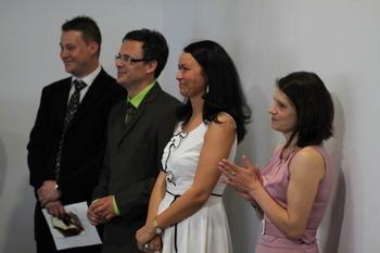 Członkowie Komitetu Organizacyjnego, zjego Przewodniczącą, Eweliną Wojtera (druga odprawej)