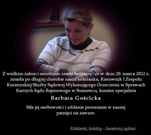 Pożegnanie - Barbara Gościcka
