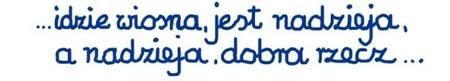 Fragment wiersza anonimowego autora, wychowanka Ośrodka Kuratorskiego wCzłuchowie.